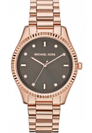 Rose Golden Stainless Steel Blake Three-Hand Glitz Watch 42mm