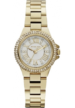 'Mini Camille' Pavé Bezel Bracelet Watch, 26mm