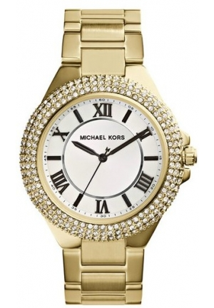 Michael Kors Slim Gold Tone Stainless Steel Bracelet Women's Watch 40mm