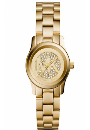 MICHAEL KORS Petite Runway Gold Tone Watch 26mm