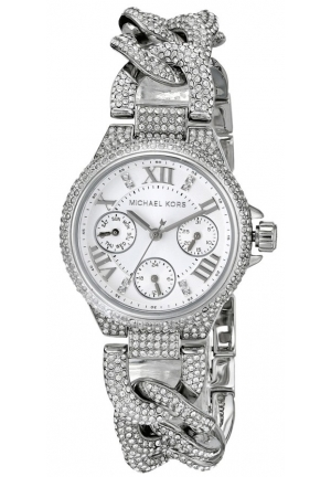 Mini Camille Silver Tone Glitz Watch 34mm