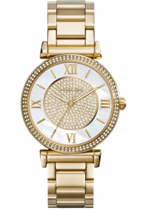 MICHAEL KORS Catlin Gold Tone Watch 38mm