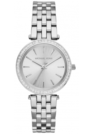 MICHAEL KORS Darci Silver Tone Watch 33mm