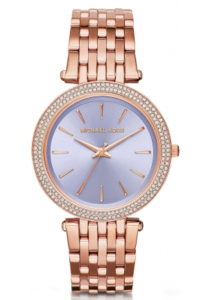 MICHAEL KORS  Darci Pavé Rose Gold-Tone Watch 39mm