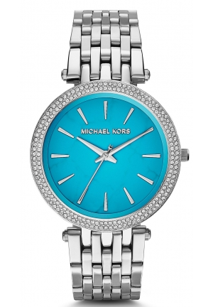 MICHAEL KORS  Darci Pavé Silver-Tone Watch 39mm