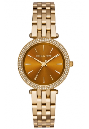 MICHAEL KORS Darci Gold-Tone and Amber Watch 33mm