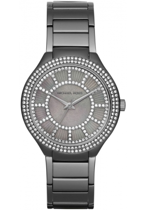 MICHAEL KORS  Kerry Pavé Gunmetal-Tone And Mother-Of-Pearl Watch