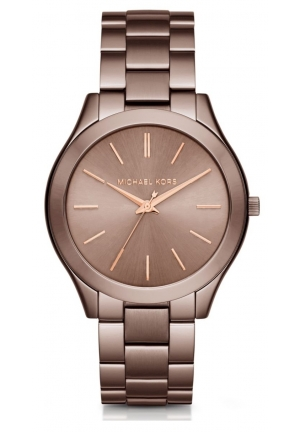 MICHAEL KORS  Slim Runway Sable And Rose Gold-Tone Watch