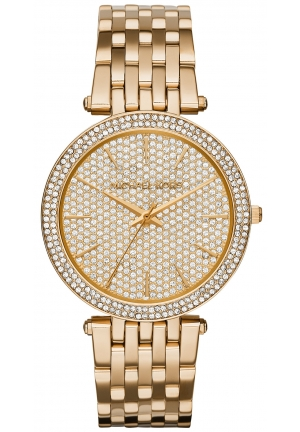 MICHAEL KORS  Darci Pavé Gold-Tone Watch