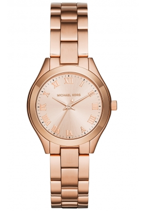 Mini Slim Sunway Rose Gold-Tone Stainless Steel Bracelet Ladies Watch 33mm