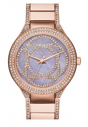 MICHAEL KORS Kerry Mother of Pearl Dial Rose Gold-Tone Stainless Steel Ladies Watch 38mm