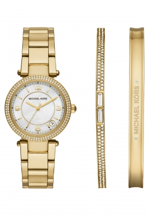Delray White Dial Gold-Tone Ladies Set Watch