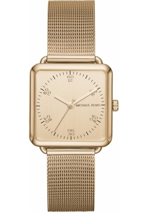 Michael Kors Brenner Square Gold Tone Watch