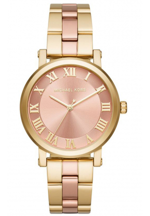 NORIE BLUSH DIAL LADIES TWO TONE WATCH