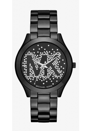 Slim Runway Scatter Logo Black-Tone Watch 42mm
