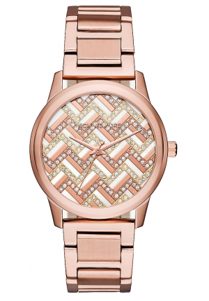 MICHAEL KORS  Hartman Chevron Rose Gold-Tone Watch