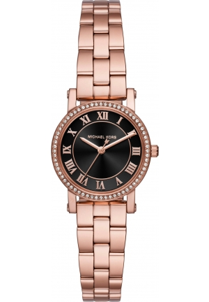 Michael Kors Petite Norie Rose Gold Tone Crystal Ladies Watch