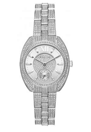 Dena Pavé Silver-Tone Watch 33mm