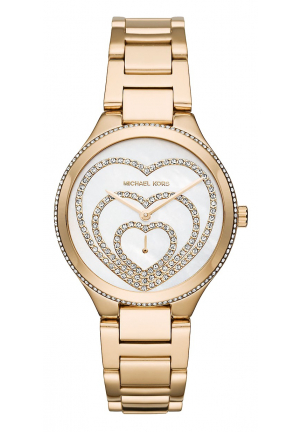 Lainey Pavé Heart Gold-Tone Watch 36MM