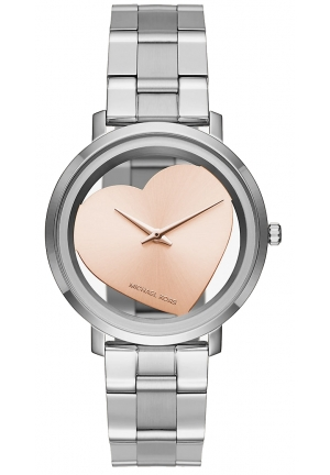 MICHAEL KORS  Jaryn Silver-Tone Heart Watch