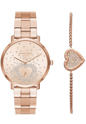 Jaryn Rose Gold-Tone Watch and Bracelet Set by Michael Kors