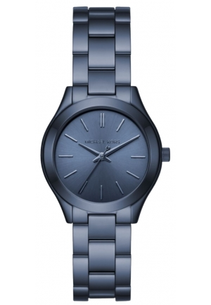 MICHAEL KORS  Slim Runway Navy-Tone Watch