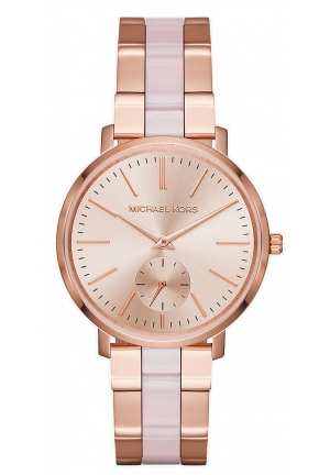 Jaryn Rose Gold-Tone And Acetate Watch