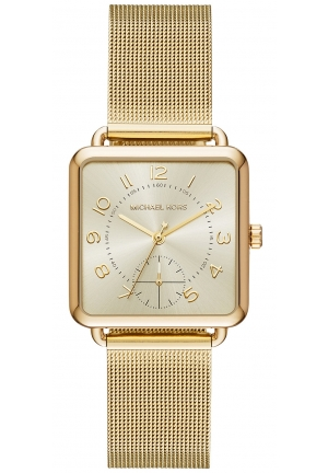 Michael Kors Brenner Gold-Tone Three-Hand Watch