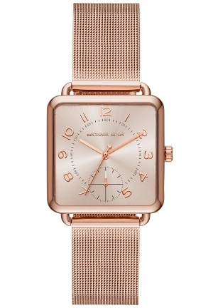 Michael Kors Brenner Rose Gold-Tone Three-Hand Watch