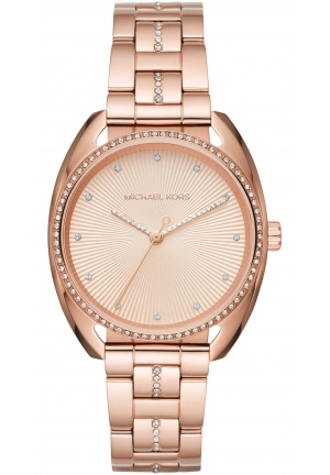 Michael Kors Libby Rose Gold-Tone Three-Hand Watch,