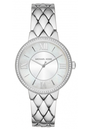 MICHAEL KORS Courtney Pavé Silver-Tone Watch