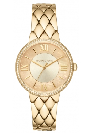 MICHAEL KORS Courtney Pavé Gold-Tone Watch