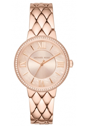 MICHAEL KORS Courtney Pavé Rose Gold-Tone Watch