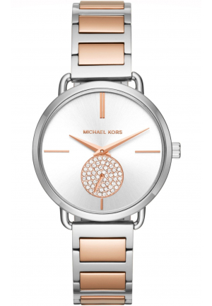 PORTIA SILVER DIAL TWO-TONE WATCH