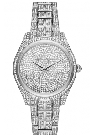 LAURYN STAINLESS STEEL AND PAVE THREE-HAND