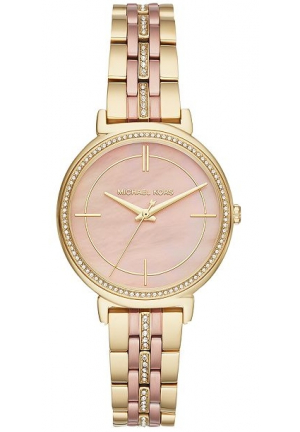 Michael Kors Rose Gold Womens Cinthia Two-tone