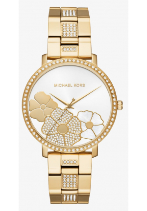 MICHAEL KORS Jaryn Pavé Gold-Tone Watch