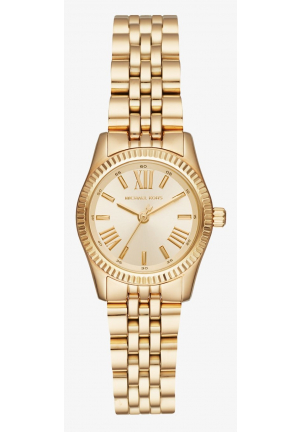 MICHAEL KORS Petite Lexington Gold-Tone Watch