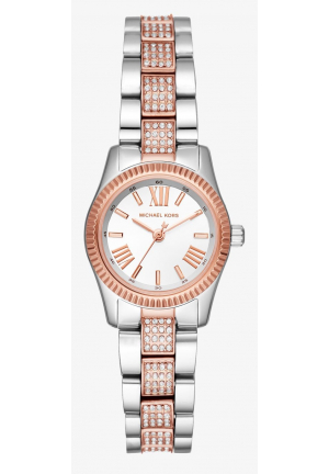 MICHAEL KORS Petite Lexington Pavé Two-Tone Watch
