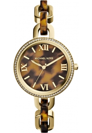 MICHAEL KORS Women's Tortoise Acetate Delaney Watch 37mm