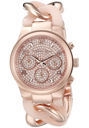Michael Kors 34mm Rose Gold Case Gold Mineral Women's Watch
