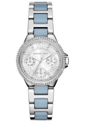 MICHAEL KORS Mini Camille Multifunction Acetate Watch - Silver 33mm