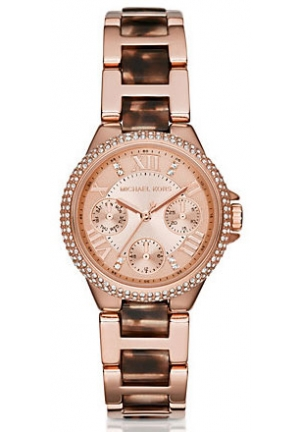 MICHAEL KORS Mini Camille Multifunction Acetate Watch - Rose Gold 33mm