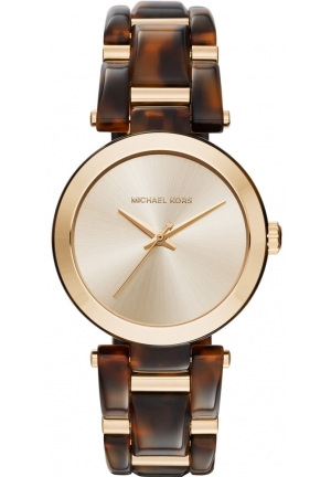 MICHAEL KORS  Delray Gold-Tone And Tortoise-Acetate Watch