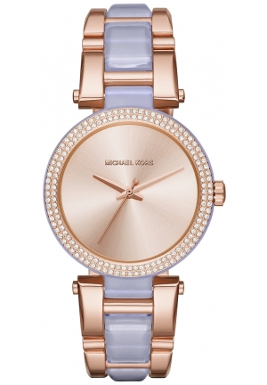 Michael Kors Women's Delray Rose Gold-Tone Wisteria Bracelet Watch 36mm