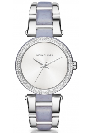 MICHAEL KORS  Delray Pavé Silver-Tone And Acetate Watch