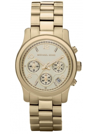 Unisex Chronograph Runway Gold-Tone Stainless Steel Bracelet 38mm