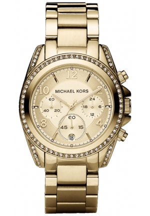 MICHAEL KORS Blair Gold-Tone Stainless Steel Bracelet Watch 39mm