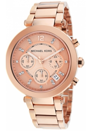Parker Rose Gold Dial Ladies Chronograph Watch