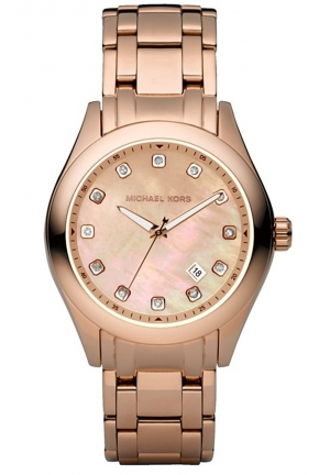 MICHAEL KORS Rose Gold Mother-Of-Pearl Watch 40mm